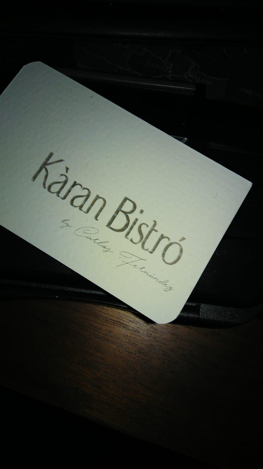 Reservas Kàran Bistró